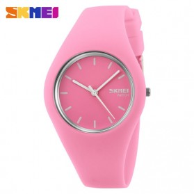 SKMEI Fashion Casual Ladies Leather Strap Watch Water Resistant 30m - 9068C - Baby Pink