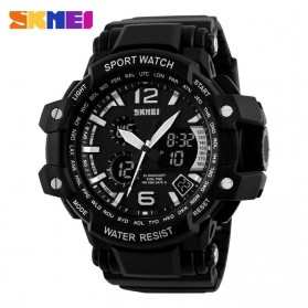 SKMEI Jam Tangan Analog Digital Pria - AD1137 - Black White