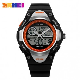 SKMEI Children Sport LED Watch Water Resistant 50m - AD1055 - Black White