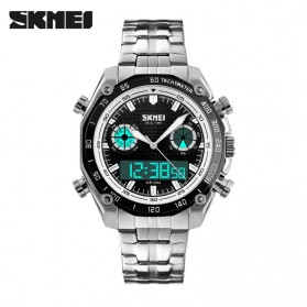 SKMEI Jam Tangan Analog Digital Pria - AD1204 - Black White - 2