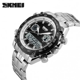 SKMEI Jam Tangan Analog Digital Pria - AD1204 - Black White - 3