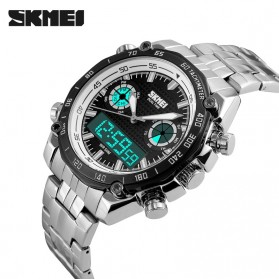 SKMEI Jam Tangan Analog Digital Pria - AD1204 - Black White - 4