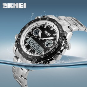 SKMEI Jam Tangan Analog Digital Pria - AD1204 - Black White - 6