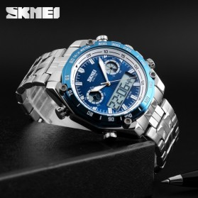 SKMEI Jam Tangan Analog Digital Pria - AD1204 - Black White - 7