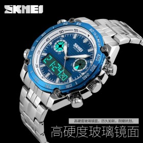 SKMEI Jam Tangan Analog Digital Pria - AD1204 - Black White - 8