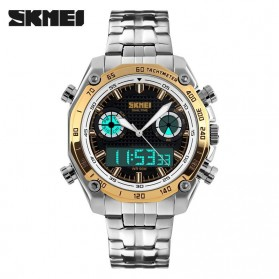 SKMEI Jam Tangan Analog Digital Pria - AD1204 - Golden - 2