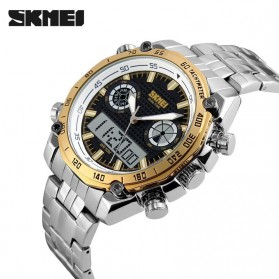 SKMEI Jam Tangan Analog Digital Pria - AD1204 - Golden - 3