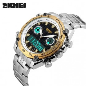 SKMEI Jam Tangan Analog Digital Pria - AD1204 - Golden - 4