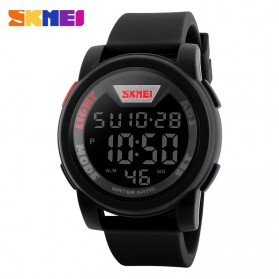 SKMEI Jam Tangan Trendy Digital Pria - DG1218 - Black - 2