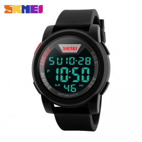 SKMEI Jam Tangan Trendy Digital Pria - DG1218 - Black - 3