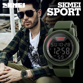 SKMEI Jam Tangan Trendy Digital Pria - DG1218 - Black - 8