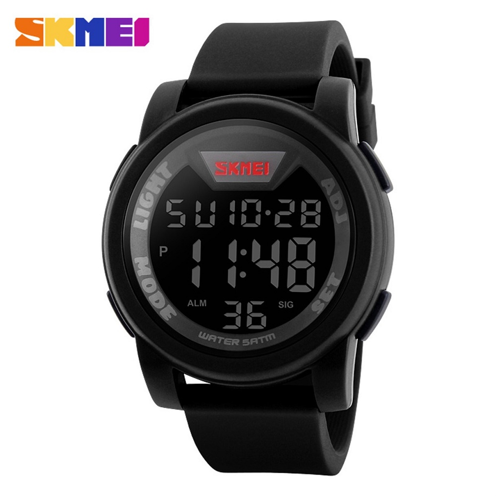 ... SKMEI Jam Tangan Trendy Digital Pria - DG1218 - Black - 1 ... 6c768473b0