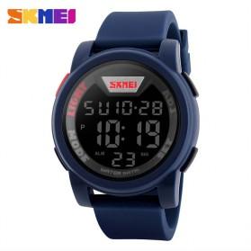 SKMEI Trendy Men LED Display Watch Water Resistant 50m - DG1218 - Blue