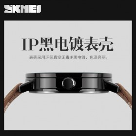 SKMEI Jam Tangan Analog Pria - 1196CL - Brown - 5