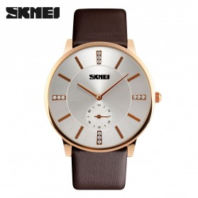SKMEI Jam Tangan Analog Pria - 1168CL - Brown/Gold