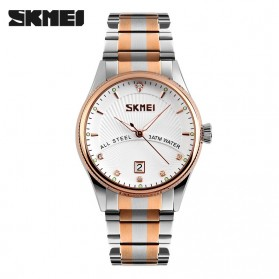 SKMEI Jam Tangan Analog Pria - 9123CS - Golden