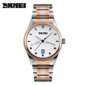 SKMEI Casual Men Stainless Strap Watch Water Resistant 30m - 9123CS - Blue