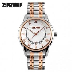 SKMEI Jam Tangan Analog Pria - 9122CS - Golden