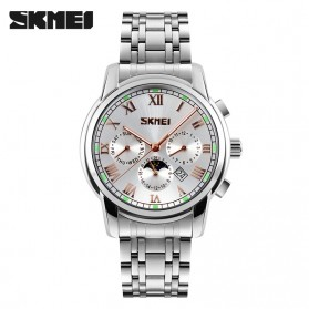 SKMEI Jam Tangan Analog Pria - 9121CS - Golden