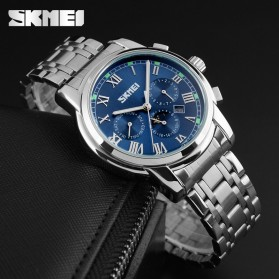 SKMEI Jam Tangan Analog Pria - 9121CS - Blue - 5