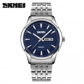 SKMEI Casual Men Stainless Strap Watch Water Resistant 30m - 9125CS - Blue
