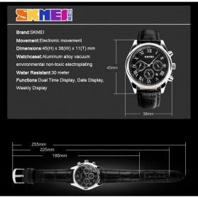 SKMEI Jam Tangan Analog Pria - 9078 - Black - 7