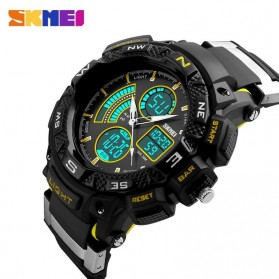 SKMEI Jam Tangan Digital Analog Pria - AD1211 - Black/Yellow