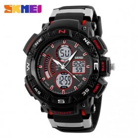SKMEI Jam Tangan Digital Analog Pria - AD1211 - Black/Red