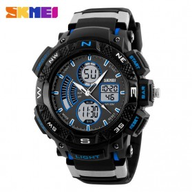 SKMEI Jam Tangan Digital Analog Pria - AD1211 - Black/Blue