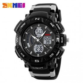 SKMEI Jam Tangan Digital Analog Pria - AD1211 - Black