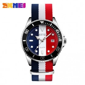 SKMEI Jam Tangan Analog Pria - 9133C - White/Red
