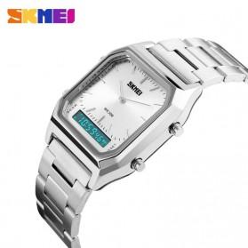 SKMEI Jam Tangan Premium Digital Analog Pria - DG1220 - Silver - 4