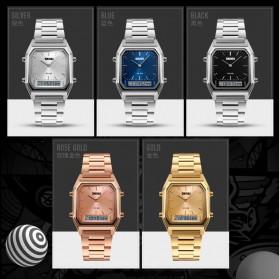 SKMEI Jam Tangan Premium Digital Analog Pria - DG1220 - Silver - 8