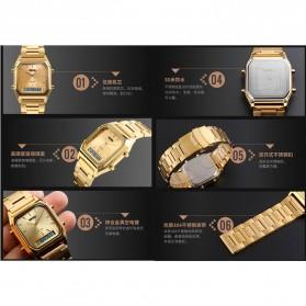 SKMEI Jam Tangan Premium Digital Analog Pria - DG1220 - Golden - 7