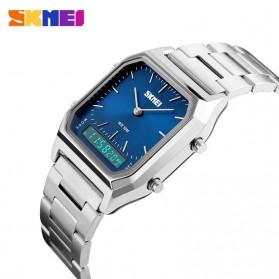 SKMEI Jam Tangan Premium Digital Analog Pria - DG1220 - Silver Blue - 4