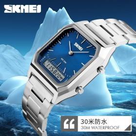 SKMEI Jam Tangan Premium Digital Analog Pria - DG1220 - Silver Blue - 5