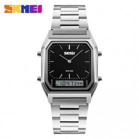 SKMEI Jam Tangan Premium Digital Analog Pria - DG1220 - Silver Black