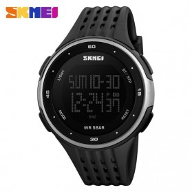 SKMEI Young Sport Watch Water Resistant 50m - DG1068 - Black/Silver