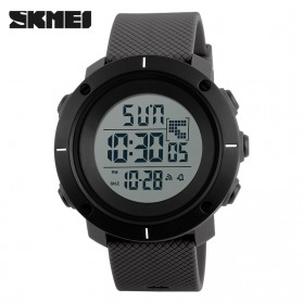SKMEI Casual Men Silicone Strap Watch Water Resistant 50m - DG1213 - Gray