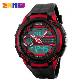 SKMEI Jam Tangan Analog Digital Pria - AD1202 - Black/Red