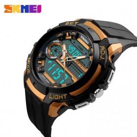 SKMEI Jam Tangan Analog Digital Pria - AD1202 - Black Gold - 3
