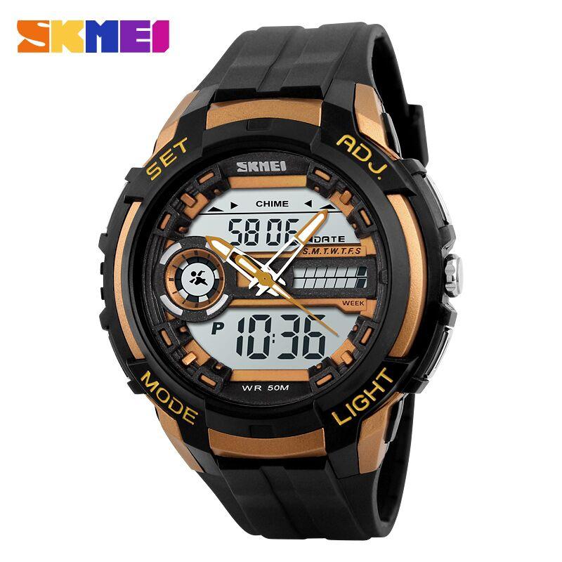... SKMEI Jam Tangan Analog Digital Pria - AD1202 - Black Gold - 1 ... 9a71ce23e1