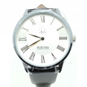 Mortima Casual Men Strap Watch Water Resistant 5ATM - White/Black - 4