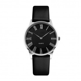 Mortima Casual Men Strap Watch Water Resistant 5ATM - Black/Black - 1