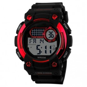 Mortima Man Sport LED Watch Water Resistant 30m - DG1054 - Red