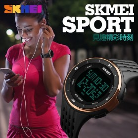 SKMEI Jam Tangan Digital Pria - DG1219 - Black/Silver - 5
