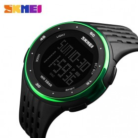 SKMEI Jam Tangan Digital Pria - DG1219 - Black/Green - 3
