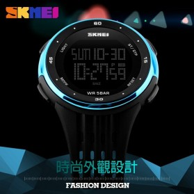 SKMEI Jam Tangan Digital Pria - DG1219 - Black/Green - 5