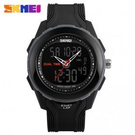 SKMEI Jam Tangan Digital Analog Pria - AD1157 - Black/Silver