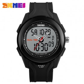SKMEI Jam Tangan Digital Analog Pria - AD1157 - Black